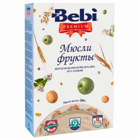 Купить Bebi Безмолочная каша Premium мюсли с фруктами с 9 мес. 200 г