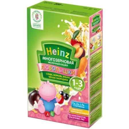 Купить Heinz Многозерновая кашка Слива, морковь, вишня, черная смородина с 1 года 200 г