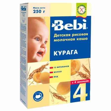 Купить Bebi Рисовая молочная каша с курагой с 4 мес. 250 г