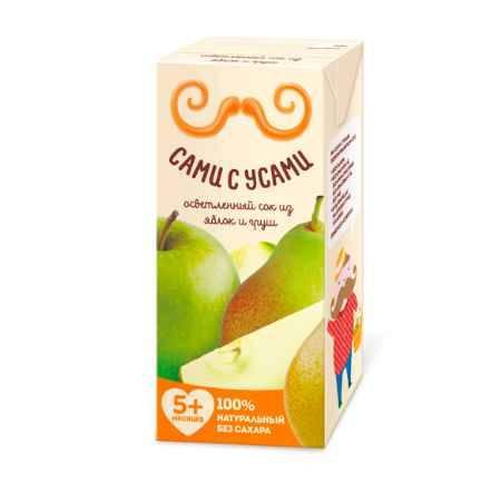 Купить Сами с усами Сок яблочно-грушевый осветленный с 5 мес. 180 мл