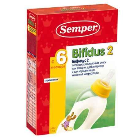 Купить Semper Молочная смесь Bifidus 2 с 6 мес. 350 г