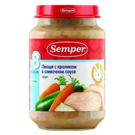 Купить Semper Пюре Овощи с кроликом в сливочном соусе с 8 мес., 190 г