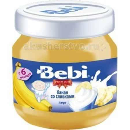 Купить Bebi Пюре Premium Банан со сливками с 6 мес. 100 г