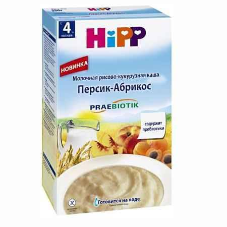 Купить Hipp Молочная рисово-кукурузная Персик-Абрикос с 4 мес., 250 гр.