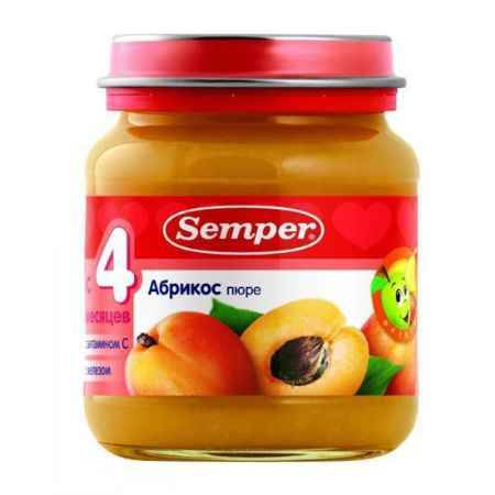 Купить Semper Пюре Абрикос с 4 мес., 125 г