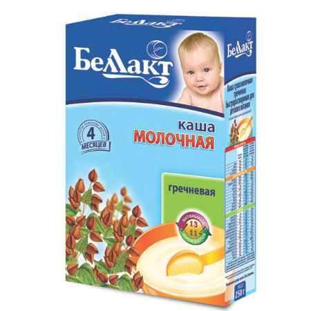 Купить Беллакт Гречневая каша молочная с 4 мес., 250 г