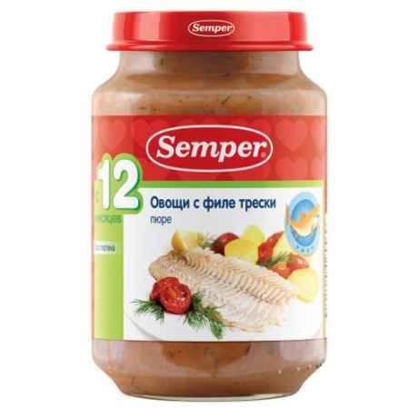 Купить Semper Пюре Овощи с филе трески с 12 мес., 190 г