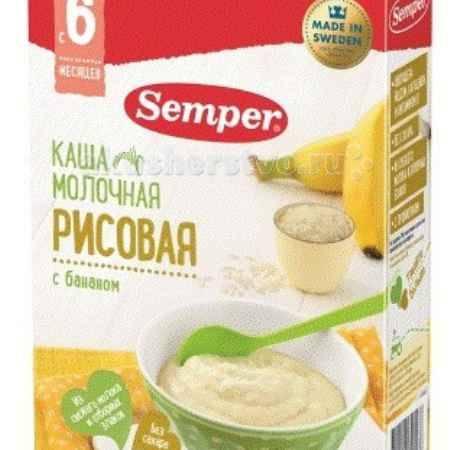 Купить Semper Каша Молочная рисовая с бананом с 6 мес. 200 г