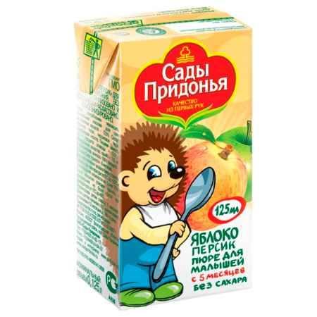 Купить Сады Придонья Пюре яблоко с персиком с 5 мес. 125 г