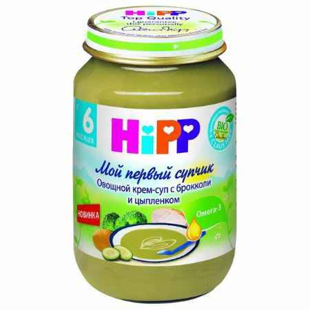 Купить Hipp Овощной крем-суп с брокколи и цыпленком с 6 мес., 190 г