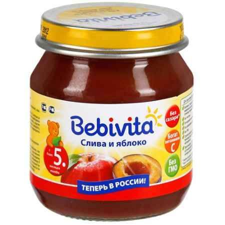 Купить Bebivita Пюре Слива и яблоко с 5 мес. 100 г