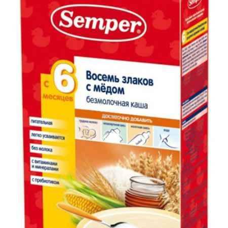 Купить Semper 8 злаков с мёдом безмолочная каша с 6 мес. 200 г