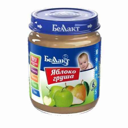 Купить Беллакт Пюре Яблоко и груша с 5 мес., 100 г