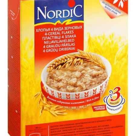 Купить Nordic Безмолочная каша 4 злака хлопья 600 г