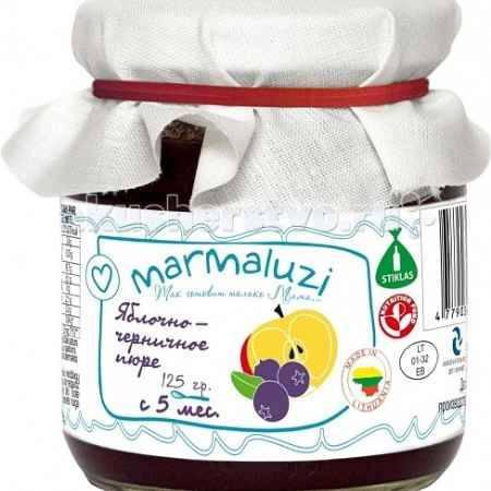 Купить Marmaluzi Пюре яблочно-черничное с 5 мес. 125 г