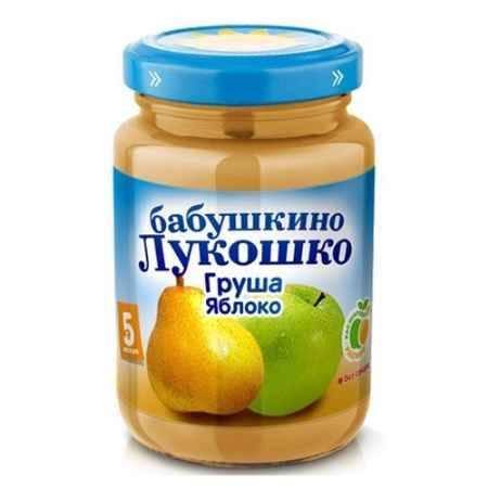 Купить Бабушкино лукошко Пюре Груша, яблоко с 5 мес., 200 г