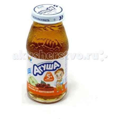 Купить Агуша Сок осветлённый без сахара Яблоко и шиповник 150 мл