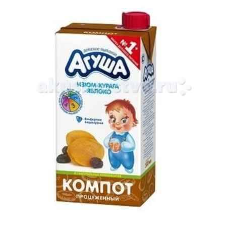 Купить Агуша Компот Курага-изюм-яблоко 500 мл