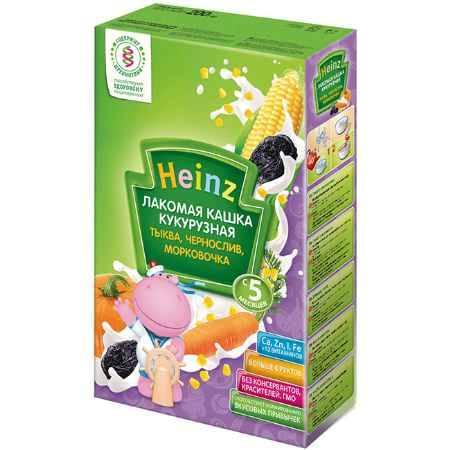 Купить Heinz Лакомая кукурузная молочная кашка Тыква, морковочка, чернослив с 5 мес. 200 г