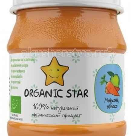 Купить Organic Star Пюре Морковь яблоко с 5 мес. 100 г