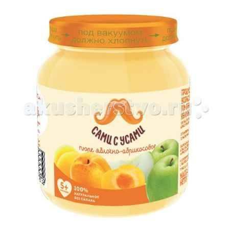 Купить Сами с усами Пюре Яблоко с абрикосом с 5 мес. 100 г