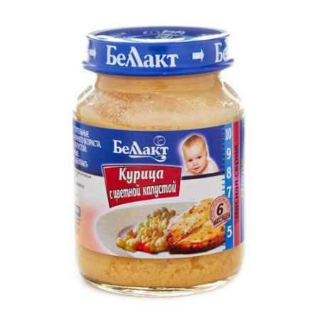 Купить Беллакт Пюре Курица с цветной капустой с 6 мес., 130 г