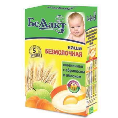 Купить Беллакт Пшеничная каша с абрикосом и яблоком безмолочная с 5 мес., 250 г