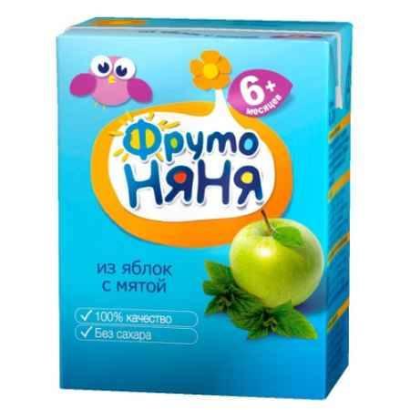 Купить ФрутоНяня Напиток из яблок с мятой с 6 мес., 200 мл (тетра пак)