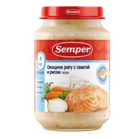 Купить Semper Пюре Овощное рагу с семгой и рисом с 9 мес., 190 г