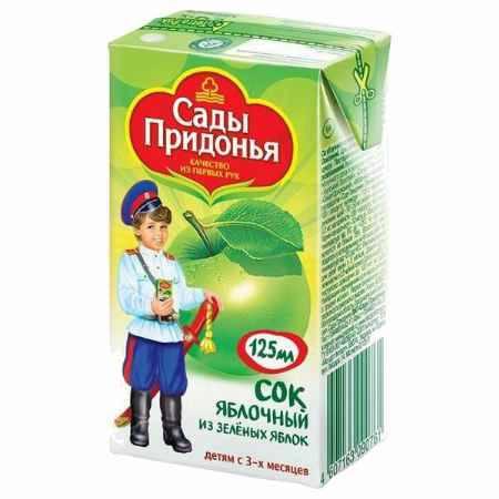 Купить Сады Придонья Сок Яблоко зеленое с 3 мес., 125 мл