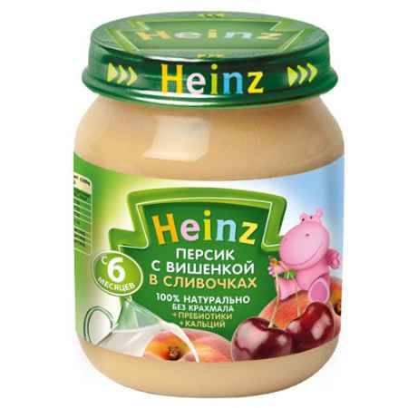 Купить Heinz Пюре Персик с вишенкой в сливочках с 6 мес., 120 г