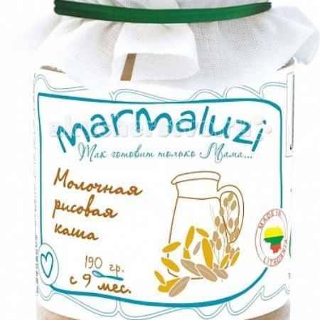 Купить Marmaluzi Пюре каша молочная рисовая с 9 мес. 190 г