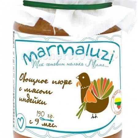 Купить Marmaluzi Пюре овощное с мясом индейки с 9 мес. 190 г