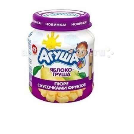 Купить Агуша Пюре с кусочками фруктов Яблоко-груша 105 г