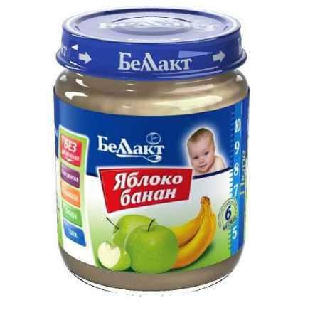 Купить Беллакт Пюре Яблоко и банан с 6 мес., 100 г