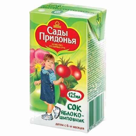 Купить Сады Придонья Сок Яблоко с шиповником с 6 мес., 125 мл