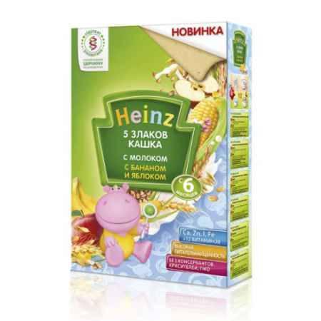 Купить Heinz Молочная 5 злаков с бананом и яблоком с 6 мес., 250 гр.