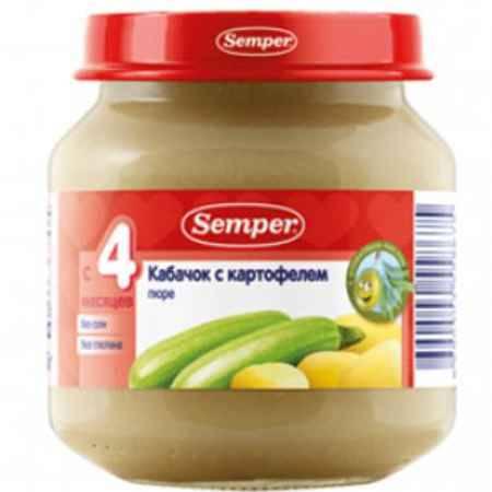 Купить Semper Пюре Кабачок с картофелем с 4 мес., 125 г