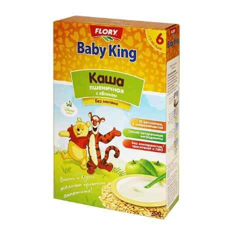 Купить Baby King Безмолочная пшеничная каша с яблоком