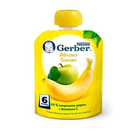 Купить Gerber Пюре Яблоко банан с 6 мес. 90 г