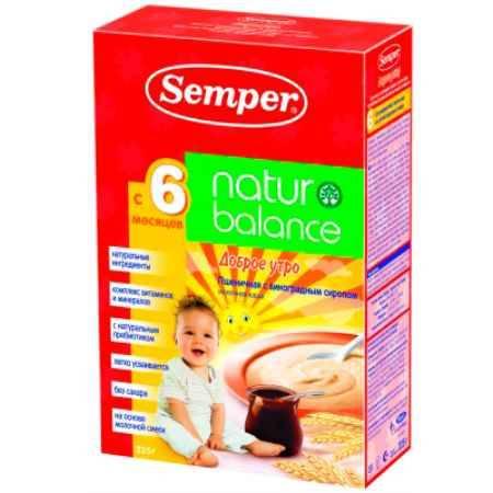 Купить Semper Пшеничная с виноградным сиропом молочная каша naturbalance Доброе утро с 6 мес. 225 г