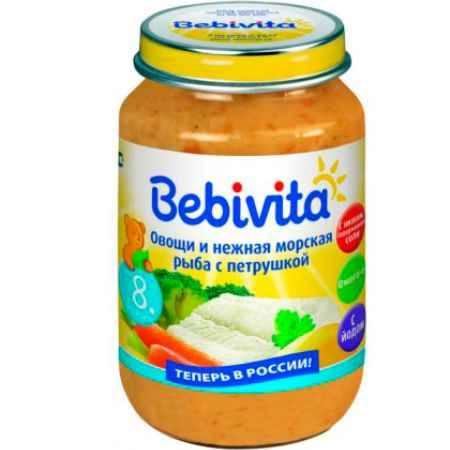 Купить Bebivita Пюре Овощи и нежная морская рыба с петрушкой с 8 мес. 190 г