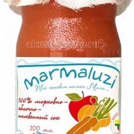 Купить Marmaluzi Сок морковно-яблочно-тыквенный с 6 мес. 200 мл