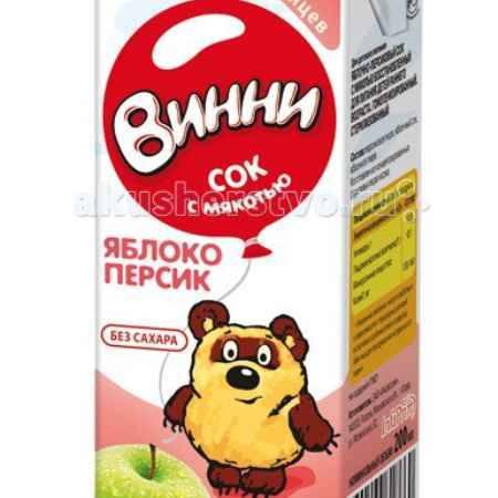 Купить Винни Сок с мякотью Яблоко-персик