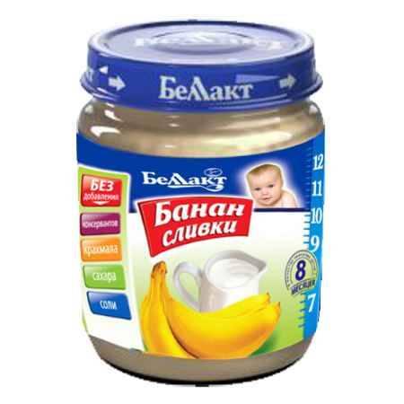 Купить Беллакт Пюре Банан со сливками с 8 мес., 100 г