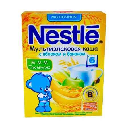 Купить Nestle Молочная каша Мультизлаковая яблоко, банан с 6 мес. 250 г