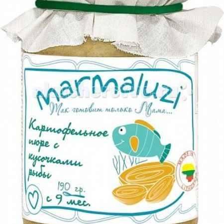 Купить Marmaluzi Пюре картофельное с кусочками рыбы с 9 мес. 190 г