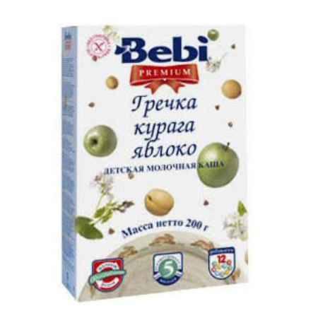 Купить Bebi Гречневая молочная каша Premium с курагой и яблоком с 5 мес. 200 г