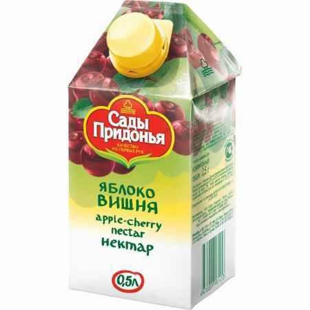 Купить Сады Придонья Сок Яблоко с вишней с 3 лет, 500 мл
