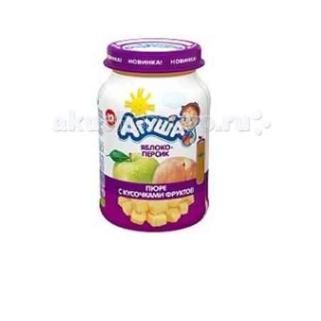 Купить Агуша Пюре с кусочками фруктов Яблоко-персик 190 г